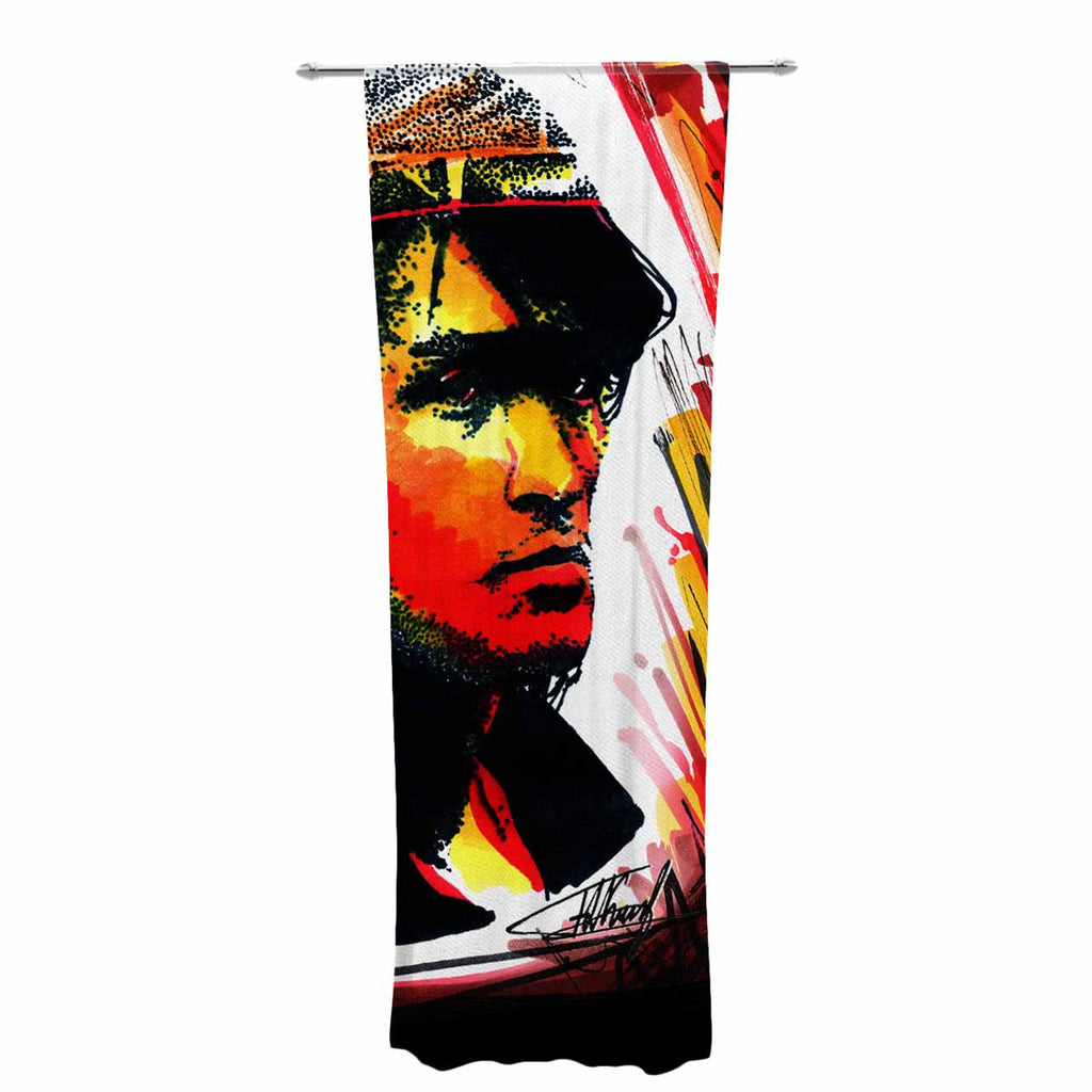 "Ivan Joh ""Tsoi Is Alive"" Red People Decorative Sheer Curtain - KESS InHouse  - 1"