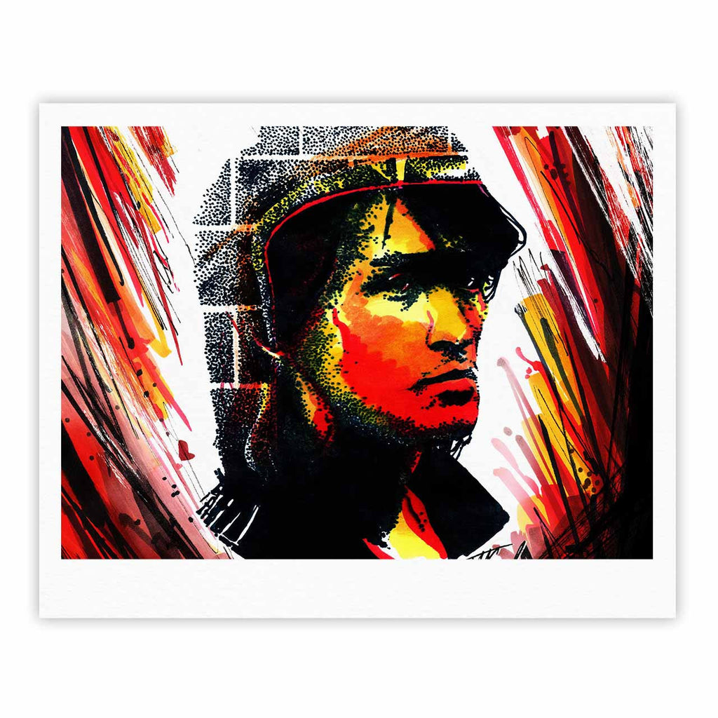 "Ivan Joh ""Tsoi Is Alive"" Red People Fine Art Gallery Print - KESS InHouse"