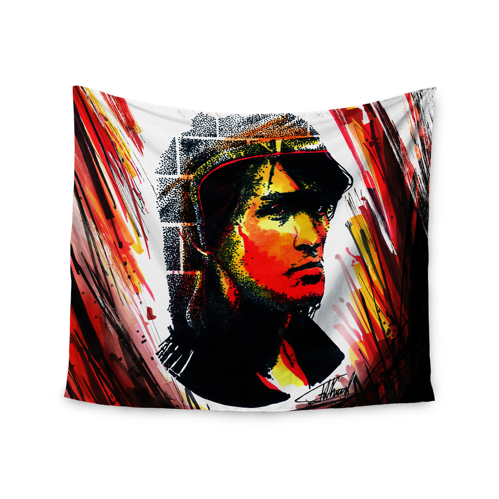 "Ivan Joh ""Tsoi Is Alive"" Red People Wall Tapestry - KESS InHouse  - 1"