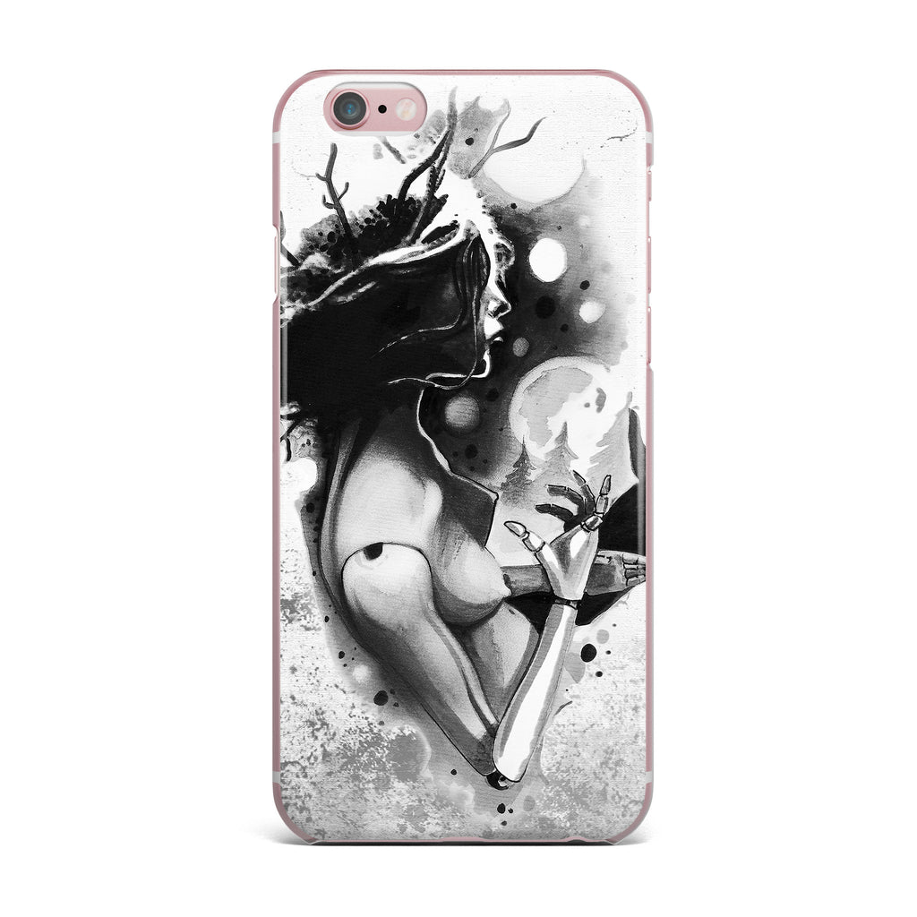 "Ivan Joh ""Shadow Play"" Black White Painting iPhone Case - KESS InHouse"