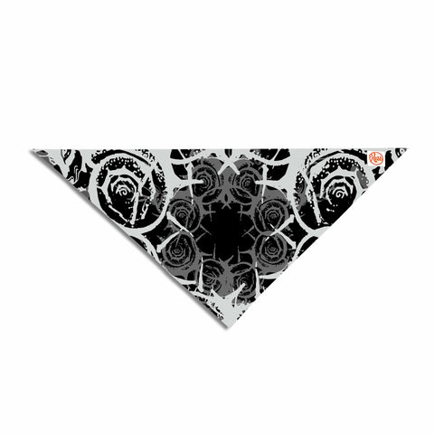 "Ivan Joh ""Fractal Antlers"" Black White Illustration Pet Bandana"