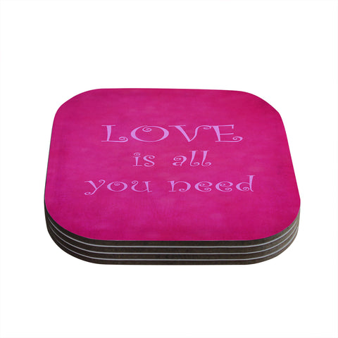 "Iris Lehnhardt ""Love is All You Need"" Coaster Set - Outlet Item"