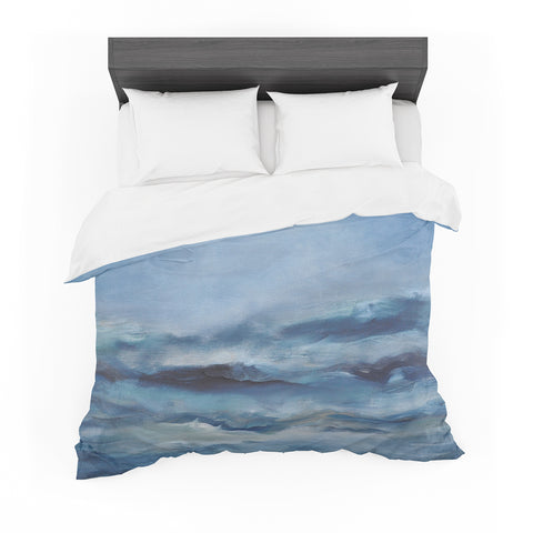 "Iris Lehnhardt ""Rough Sea"" Ocean Blue Featherweight Duvet Cover - Outlet Item"