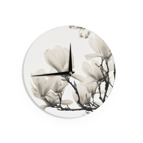 "Iris Lehnhardt ""Magnolia Blossoms"" Wall Clock - Outlet Item"