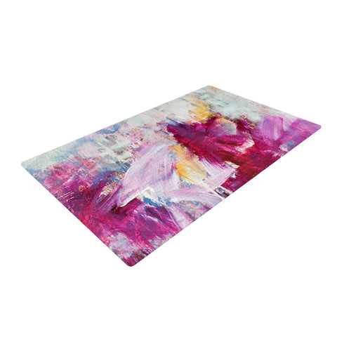 "Iris Lehnhardt ""Magenta"" Pink Paint Woven Area Rug - Outlet Item"
