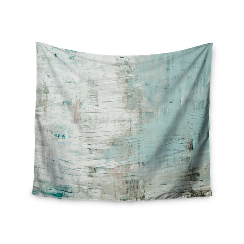 "Iris Lehnhardt ""Bluish Green"" Neutral Blue Wall Tapestry - Outlet Item"