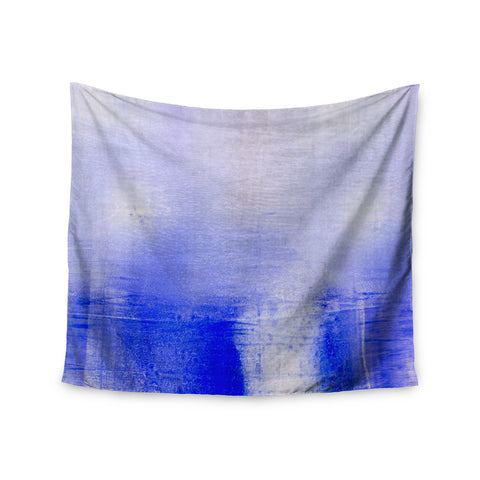 "Iris Lehnhardt ""Blue and Lavender"" Blue White Wall Tapestry - Outlet Item"