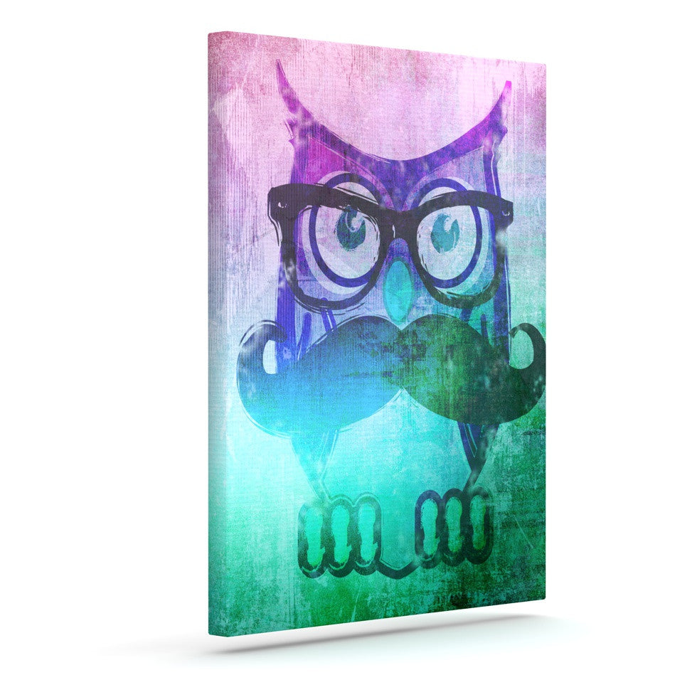 "iRuz33 ""Showly Teal"" Outdoor Canvas Wall Art - KESS InHouse  - 1"