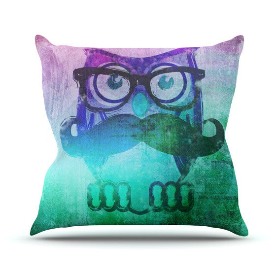 "iRuz33 ""Showly Teal"" Outdoor Throw Pillow - KESS InHouse  - 1"