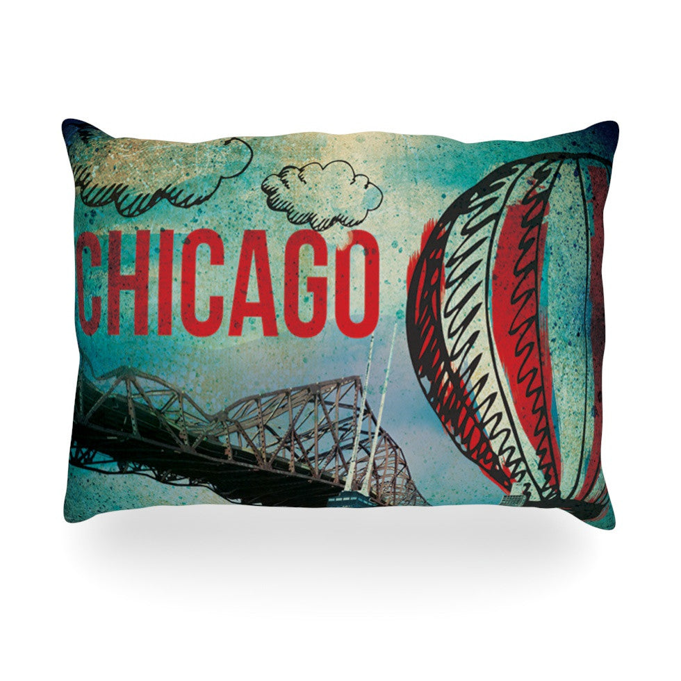 "iRuz33 ""Chicago"" Oblong Pillow - KESS InHouse"