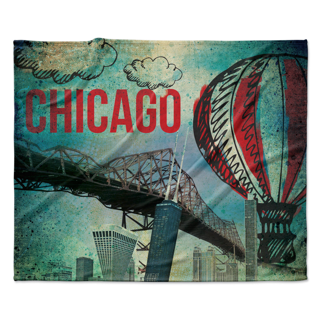 "iRuz33 ""Chicago"" Fleece Throw Blanket"