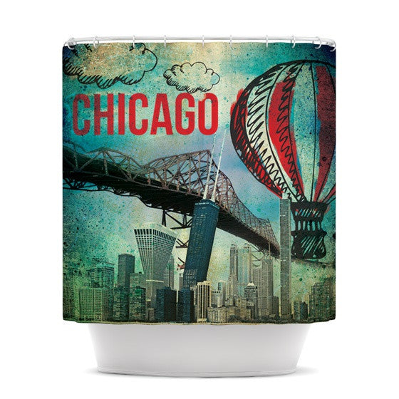 "iRuz33 ""Chicago"" Shower Curtain - KESS InHouse"