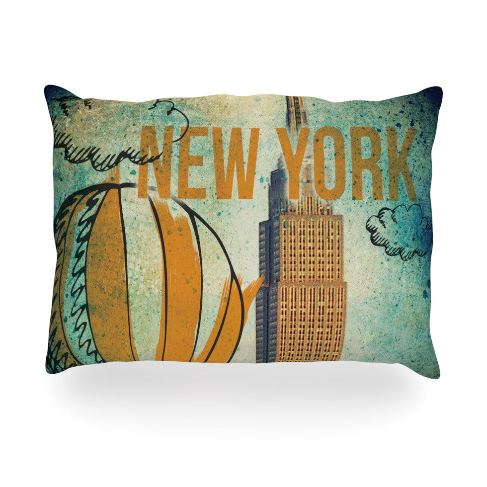 "iRuz33 ""New York"" Oblong Pillow - KESS InHouse"