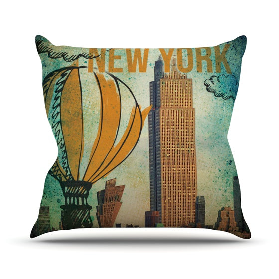 "iRuz33 ""New York"" Throw Pillow - KESS InHouse  - 1"