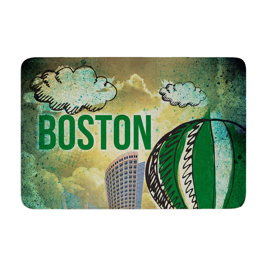 "iRuz33 ""Boston"" Memory Foam Bath Mat - KESS InHouse"