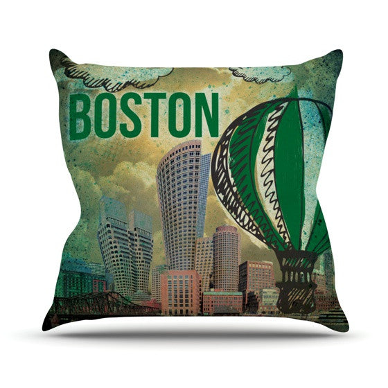 "iRuz33 ""Boston"" Outdoor Throw Pillow - KESS InHouse  - 1"