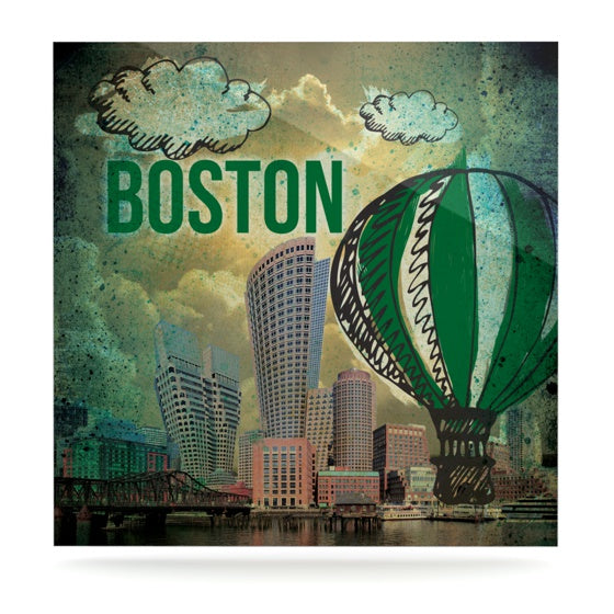 "iRuz33 ""Boston"" Luxe Square Panel - KESS InHouse  - 1"