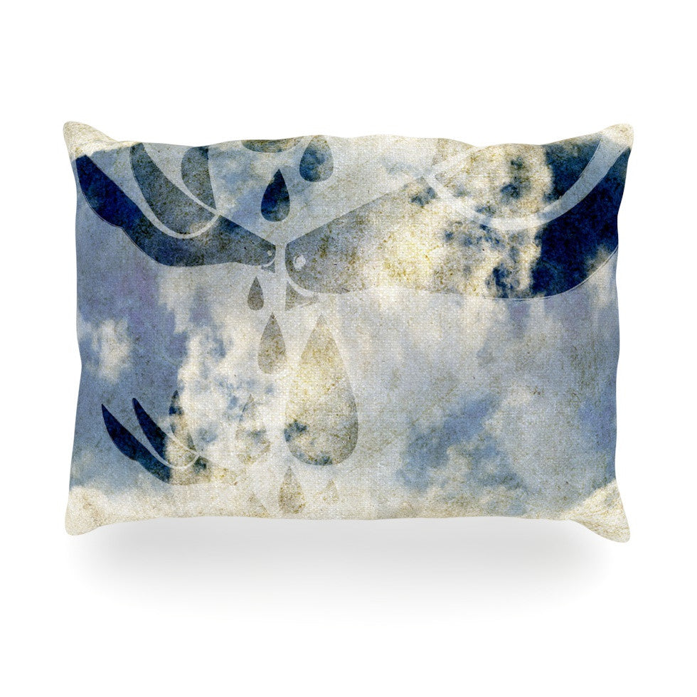 "iRuz33 ""Doves Cry"" Oblong Pillow - KESS InHouse"