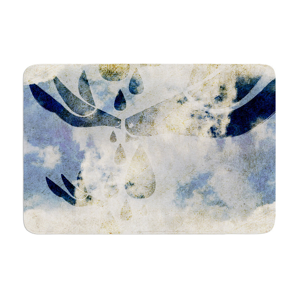 "iRuz33 ""Doves Cry"" Memory Foam Bath Mat - KESS InHouse"