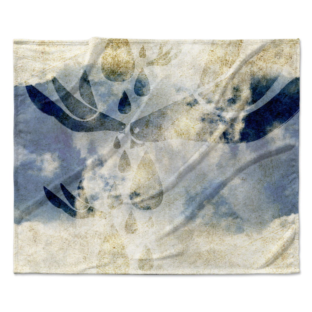 "iRuz33 ""Doves Cry"" Fleece Throw Blanket"