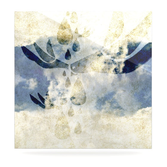 "iRuz33 ""Doves Cry"" Luxe Square Panel - KESS InHouse  - 1"