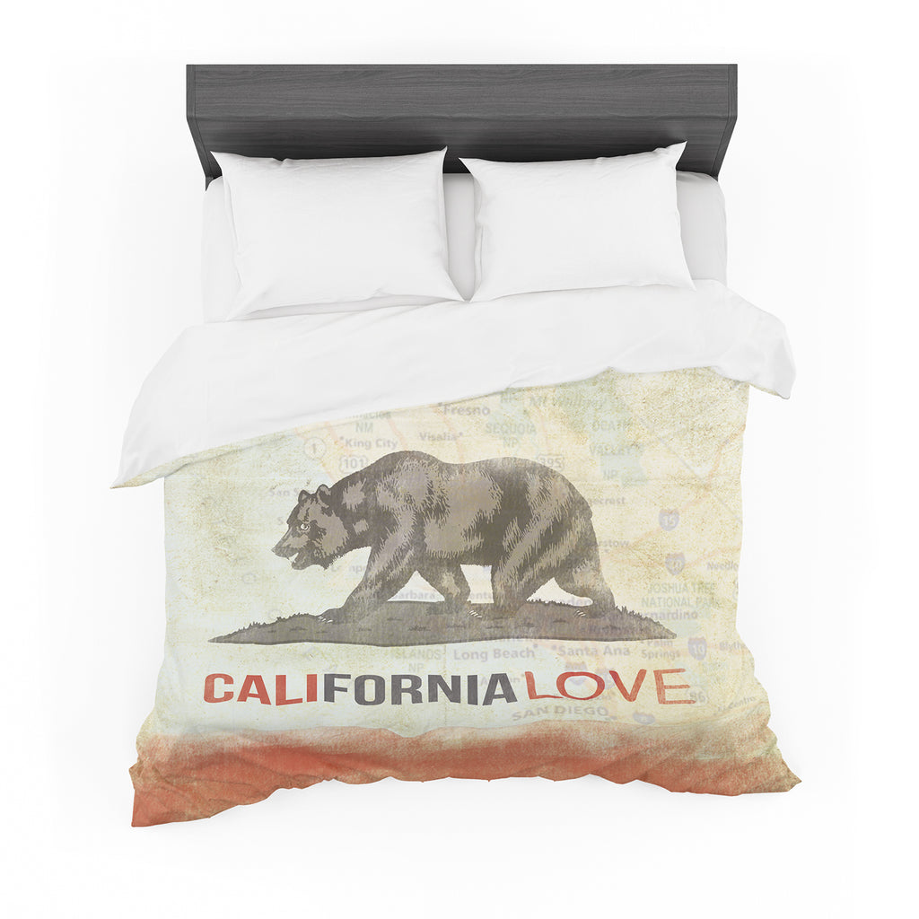 "iRuz33 ""Cali Love"" Featherweight Duvet Cover"