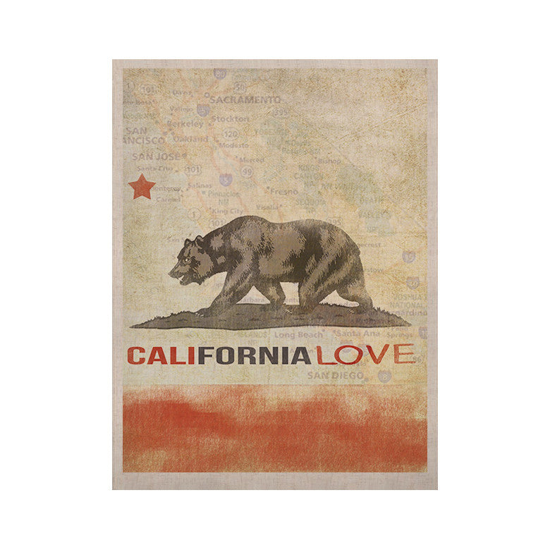"iRuz33 ""Cali Love"" KESS Naturals Canvas (Frame not Included) - KESS InHouse  - 1"