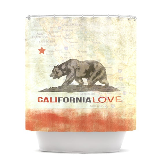 "iRuz33 ""Cali Love"" Shower Curtain - KESS InHouse"