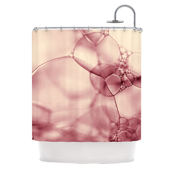 "Ingrid Beddoes ""Pink Bubbles"" Shower Curtain - KESS InHouse"
