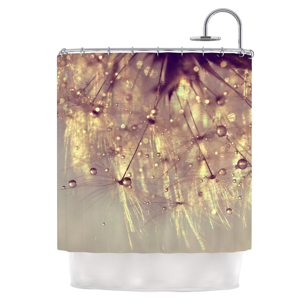 "Ingrid Beddoes ""Sparkles of Gold"" Shower Curtain - KESS InHouse"