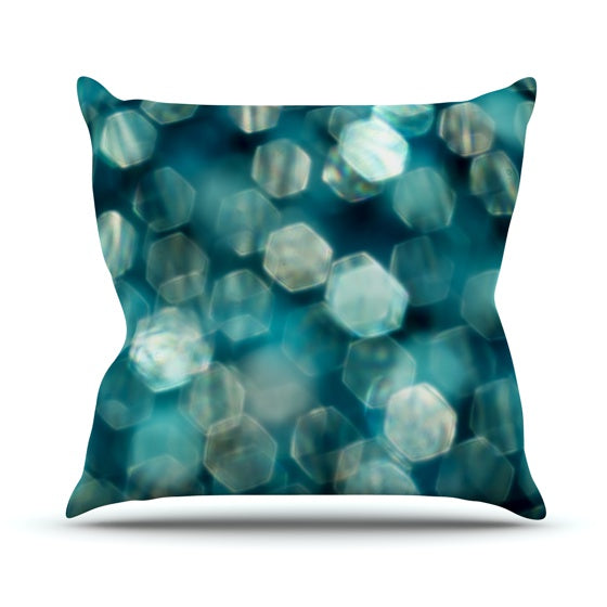 "Ingrid Beddoes ""Shades of Blue"" Throw Pillow - KESS InHouse  - 1"