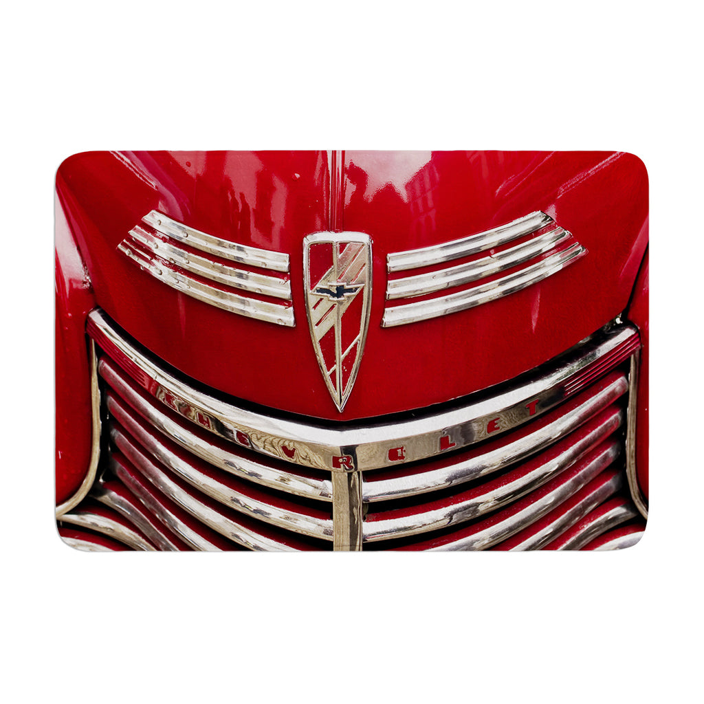 "Ingrid Beddoes ""Red Chevy"" Bath Mat - Outlet Item"