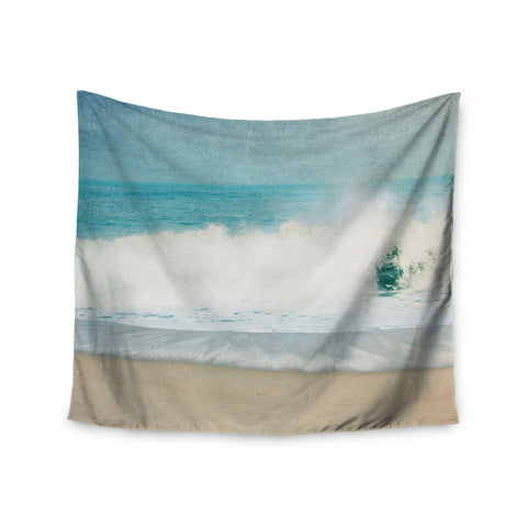 "Ingrid Beddoes ""Ocean Blues"" Wave Wall Tapestry - Outlet Item"