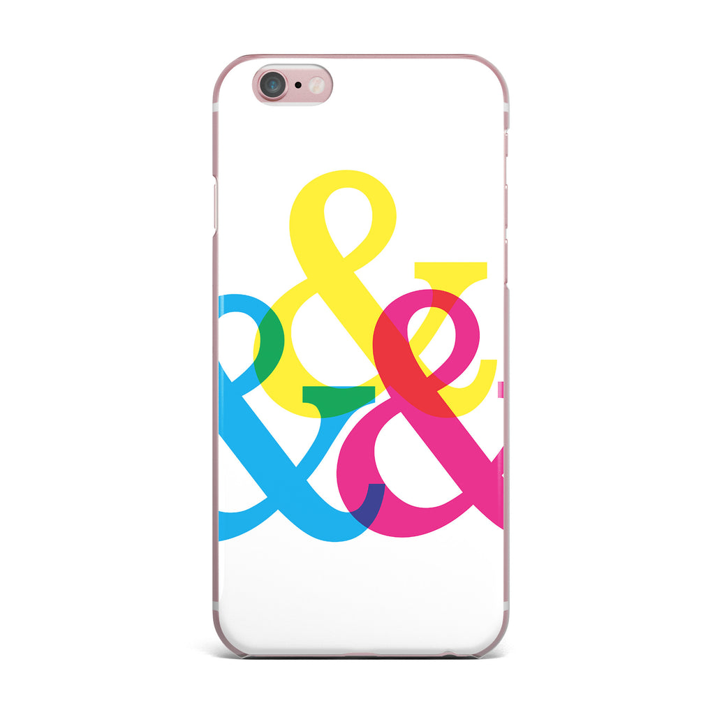 "Jackie Rose ""CYMK Ampersands"" Colorful White iPhone Case - KESS InHouse"