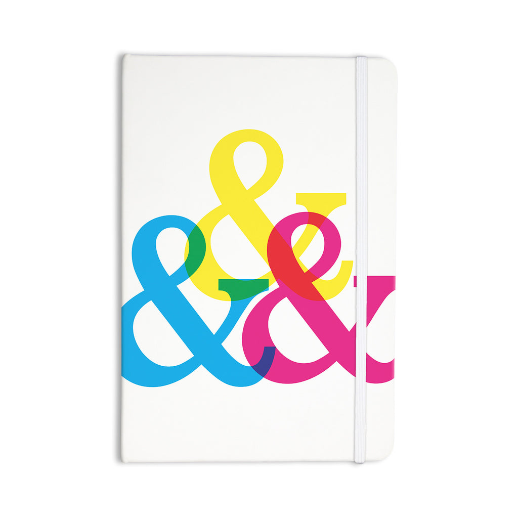 "Jackie Rose ""CYMK Ampersands"" Colorful White Everything Notebook - KESS InHouse  - 1"