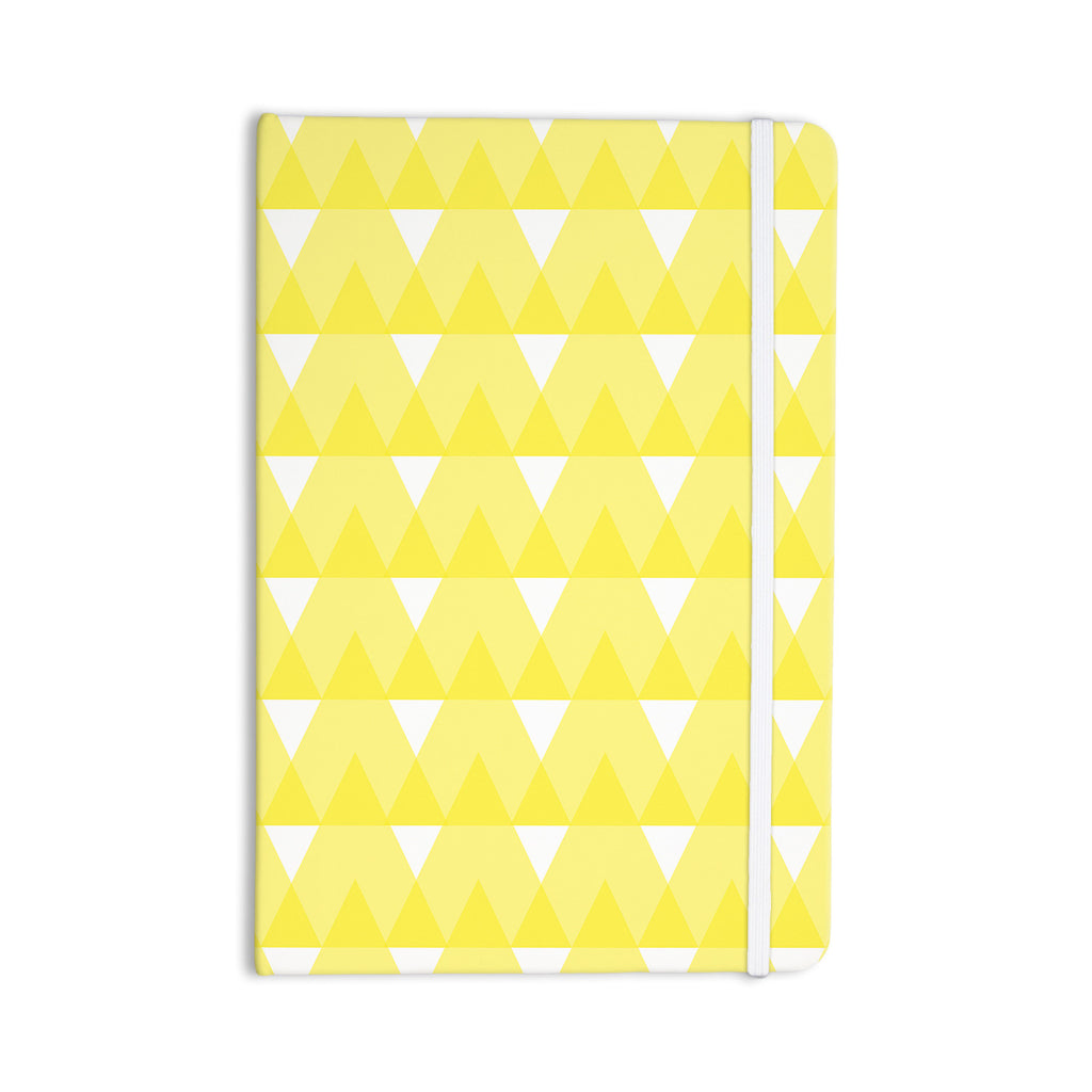 "Jackie Rose ""Yellow Triangles"" Custard White Everything Notebook - KESS InHouse"