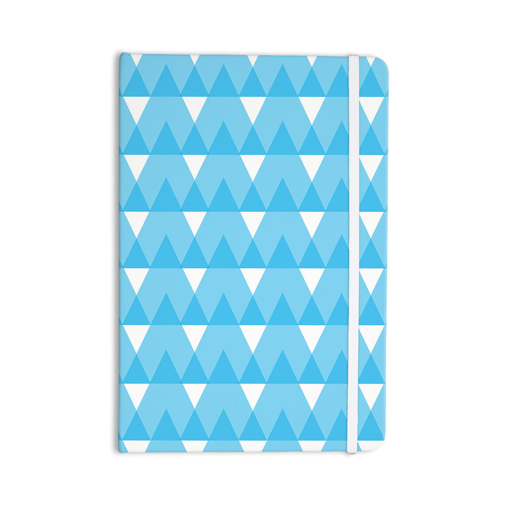 "Jackie Rose ""Cyan Triangles"" White Blue Everything Notebook - KESS InHouse  - 1"