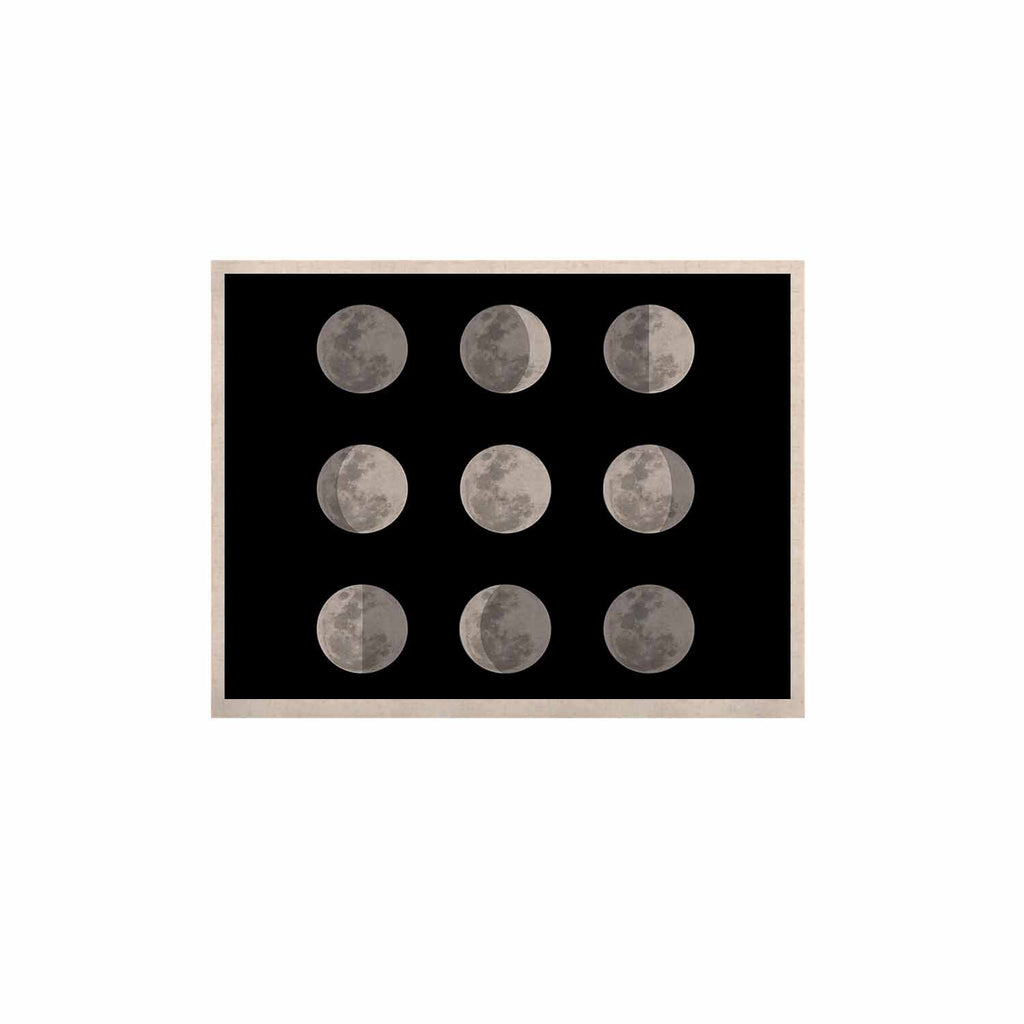 "Jackie Rose ""Lunar OCD"" Black Gray KESS Naturals Canvas (Frame not Included) - KESS InHouse  - 1"