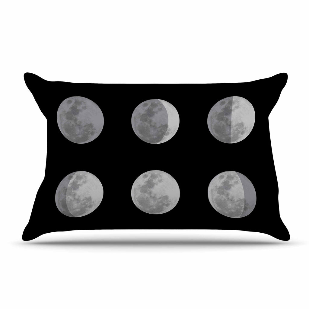 "Jackie Rose ""Lunar OCD"" Black Gray Pillow Sham - KESS InHouse"
