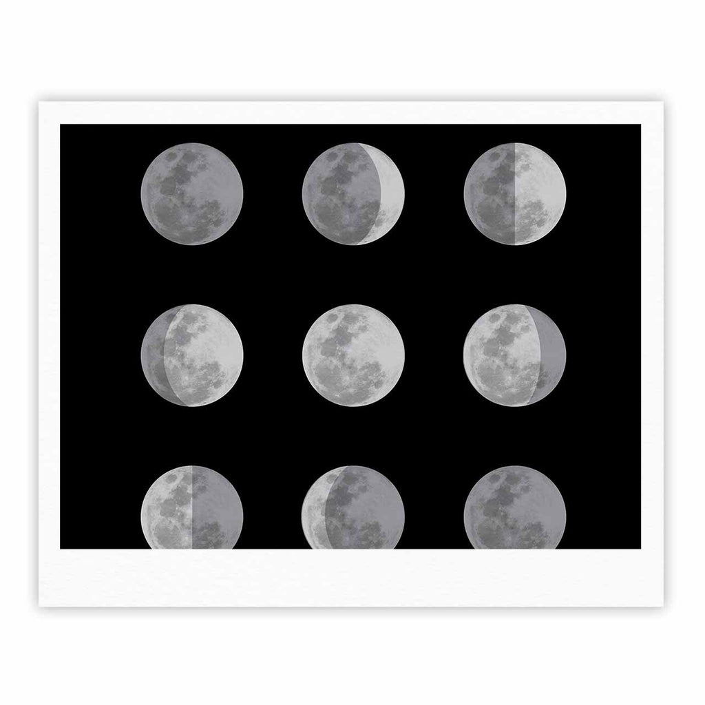 "Jackie Rose ""Lunar OCD"" Black Gray Fine Art Gallery Print - KESS InHouse"
