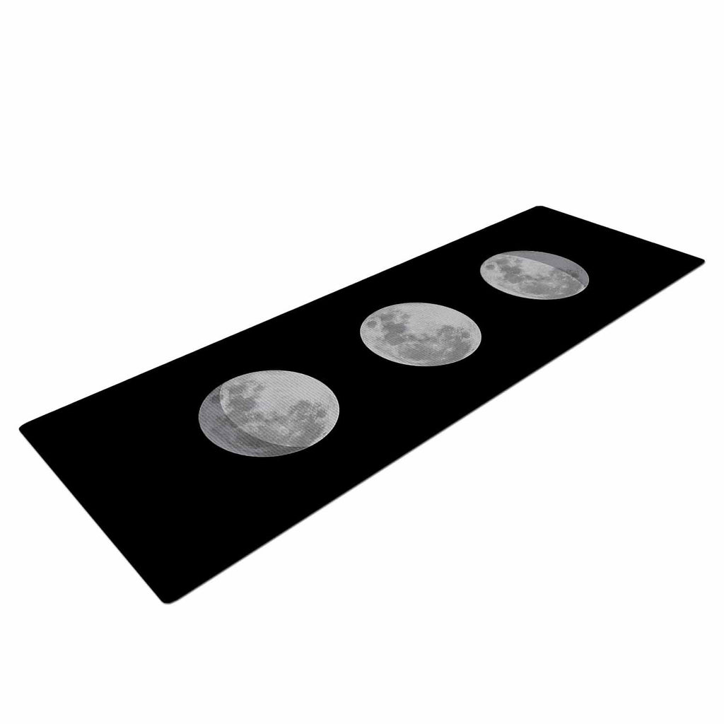 "Jackie Rose ""Lunar OCD"" Black Gray Yoga Mat - KESS InHouse  - 1"