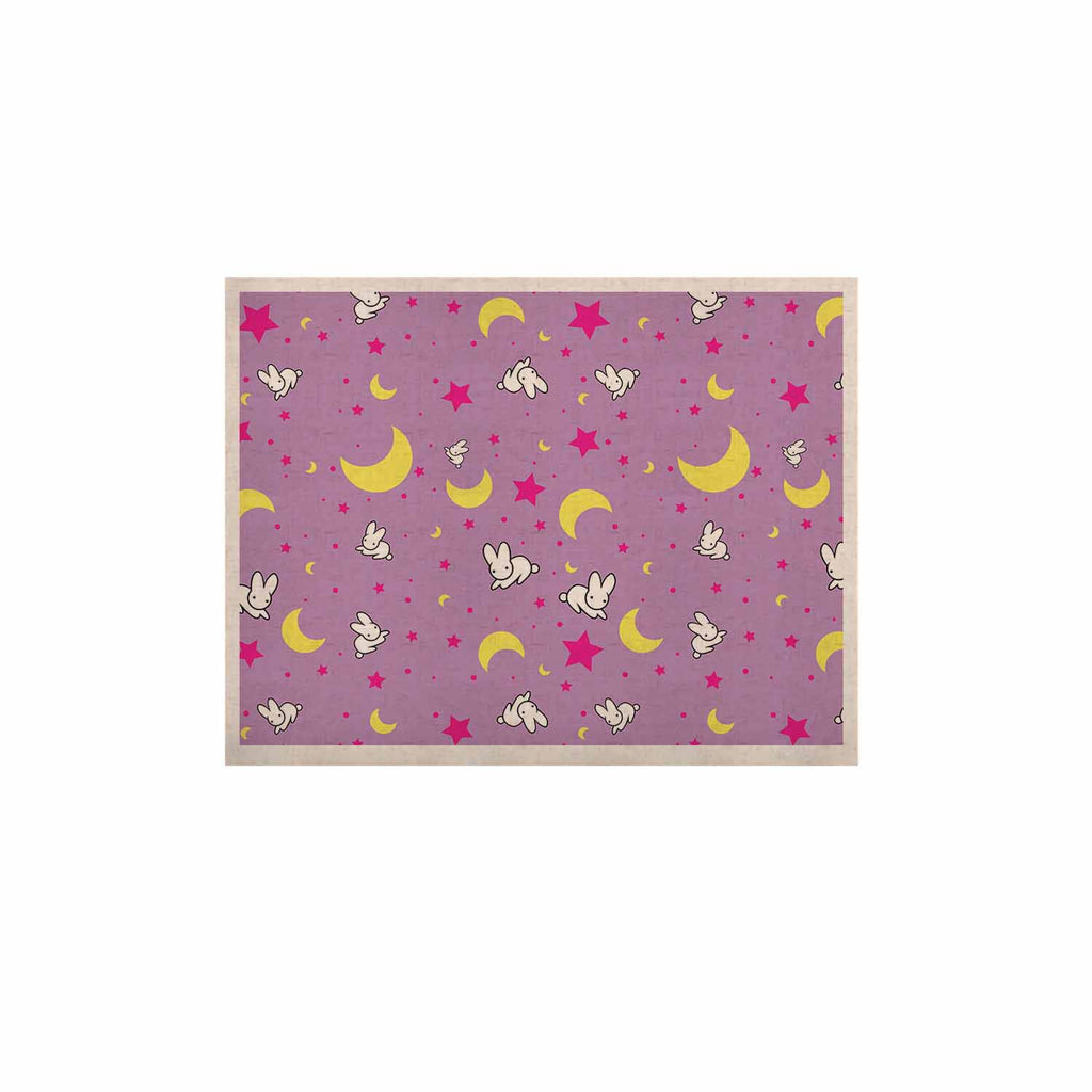 "Jackie Rose ""Goodnight Usagi"" Lavender Magenta KESS Naturals Canvas (Frame not Included) - KESS InHouse  - 1"