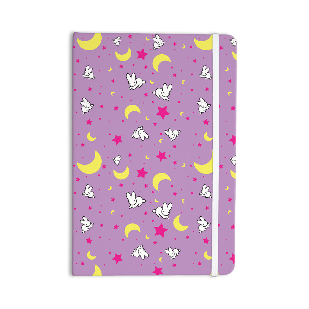 "Jackie Rose ""Goodnight Usagi"" Lavender Magenta Everything Notebook - KESS InHouse  - 1"