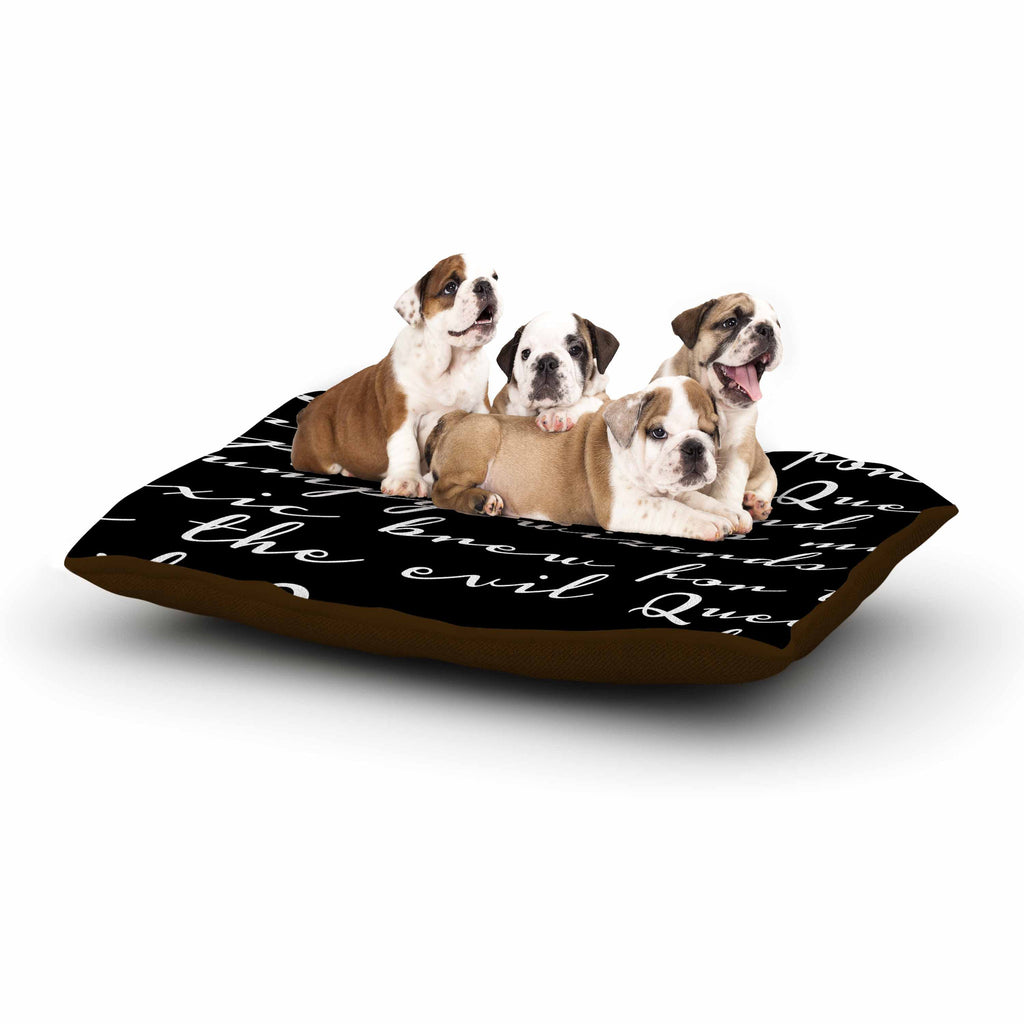 "Jackie Rose ""Grumpy Wizards"" Typography Dog Bed - KESS InHouse  - 1"