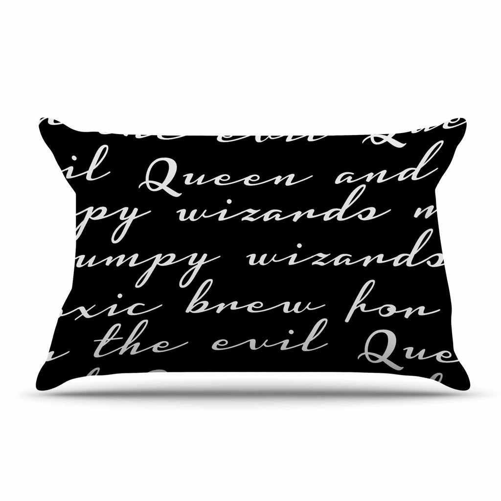 "Jackie Rose ""Grumpy Wizards"" Typography Pillow Sham - KESS InHouse"