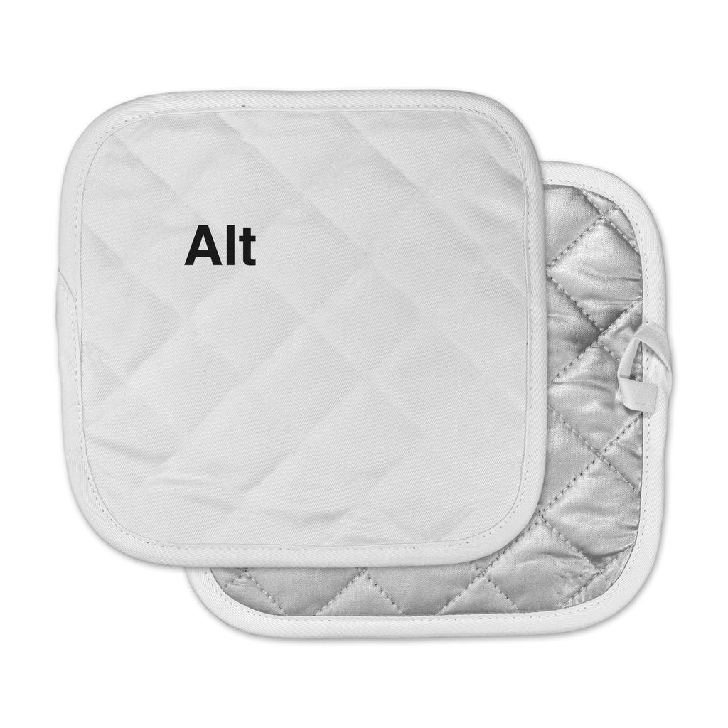 "Jackie Rose ""Alt"" Black White Pot Holder"