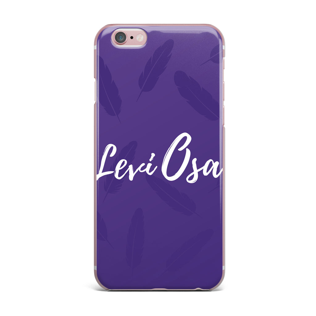 "Jackie Rose ""Swish And Flick "" Purple Typography iPhone Case - KESS InHouse"