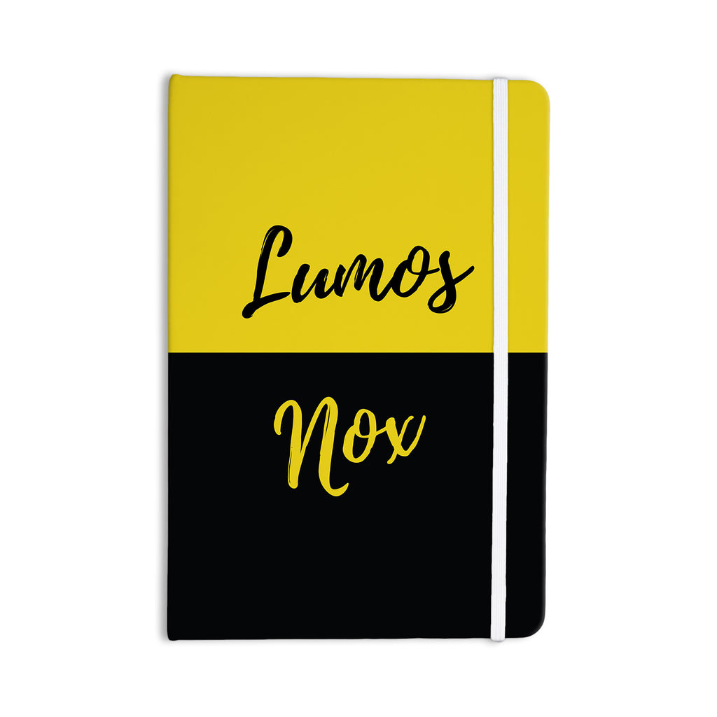 "Jackie Rose ""Turn On The Light"" Yellow Typography Everything Notebook - KESS InHouse  - 1"