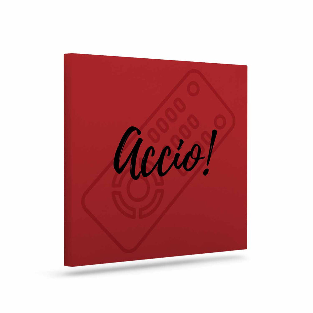 "Jackie Rose ""Accio! Remote"" Red Illustration Canvas Art - KESS InHouse  - 1"