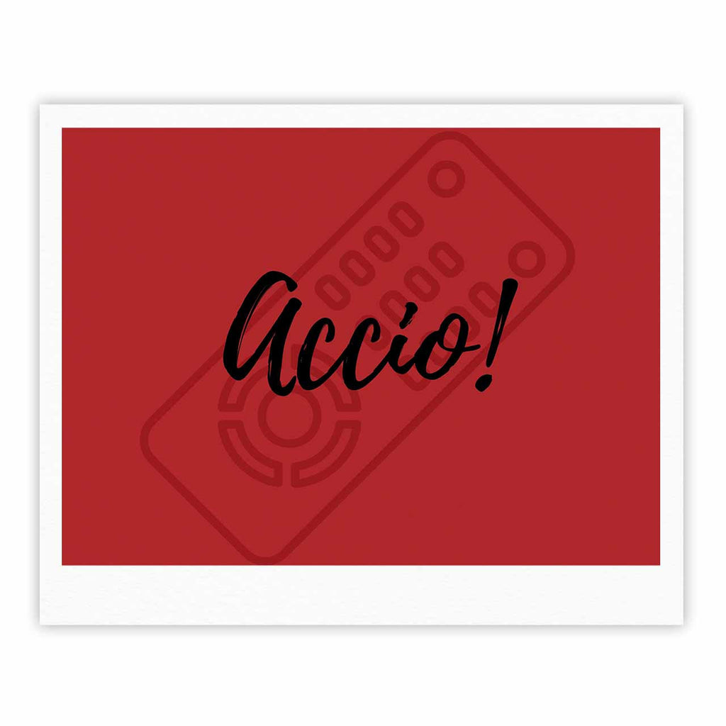 "Jackie Rose ""Accio! Remote"" Red Illustration Fine Art Gallery Print - KESS InHouse"